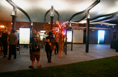 © Julia Swanson, 2012. Winding their way through the Boston Harbour Islands Pavilion, to Gloria Estefan's Conga