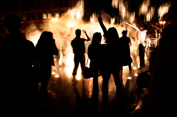 © Julia Swanson, 2012. The Decentralized Dance Party on the Rose Kennedy Greenway in 2012.