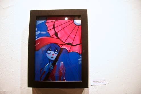 """series of five pieces based on Japanese folkolore, yokai with each piece inspired by Japanese animation."" Dawn Rivers"