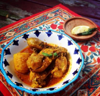 Chicken with Recipe © Mekhala Hallaster, 2014