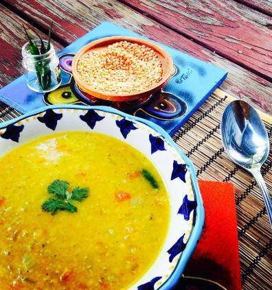 Dal with Recipe © Mekhala Hallaster, 2014