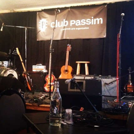 "At the CD release party for ""Goodbye Copilot"" at Club Passim"