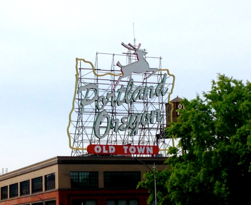 The White Stag (AKA Portland Oregon sign from the Burnside Bridge
